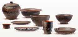 Посуда керамическая дымленная горшки керамические
