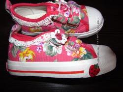 Текстильні кеди - мокасіни для дівчаток, B&G, дуже гарні і зручні