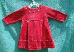 Бархатное платье для малышки MOTHERCARE р. 3-6 месяцев
