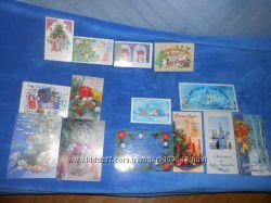 Новогодние открытки современные и советские