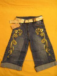 Красивенные джинсовые бриджики 2-6лет