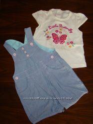 летние комплекты для девочки футболка и шорты