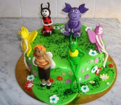 Дизайн торта разрабатывается индивидуально, все фигурки съедобные