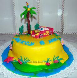 Торт  Тачки . Все виды дизайна и вкуса, веса и цены