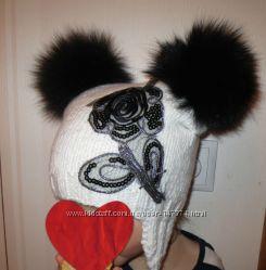 красивый набор шапочка с шарфиком