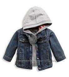 Джинсовая куртка - реглан с капюшоном 3 в 1 р. 68 - 74 C&A